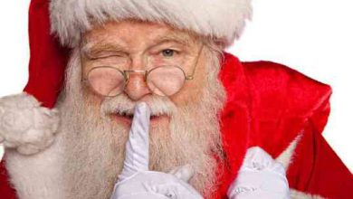 Santa Claus viste de rojo