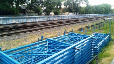 andén provisorio en la estación Ituzaingó