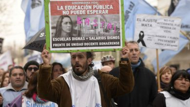 A un mes de la explosión de Moreno, marcharon para reclamar mejoras edilicias en las escuelas 4
