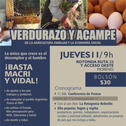 Verduras a precios populares en reclamo de la producción nacional y la agricultura familiar 3