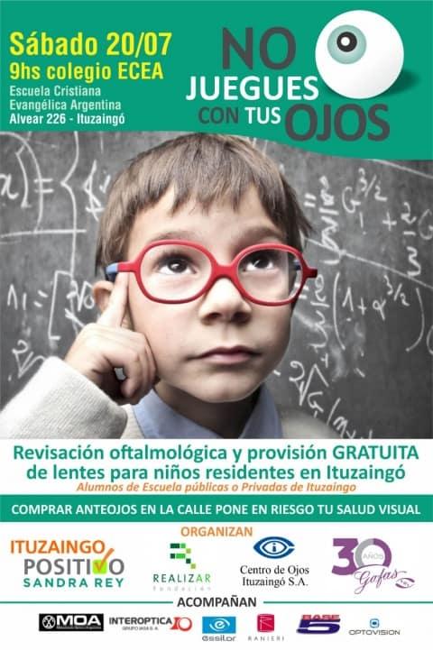 Ituzaingó: mañana sábado revisación y entrega de anteojos gratis para niñ@s en el colegio ECEA 3