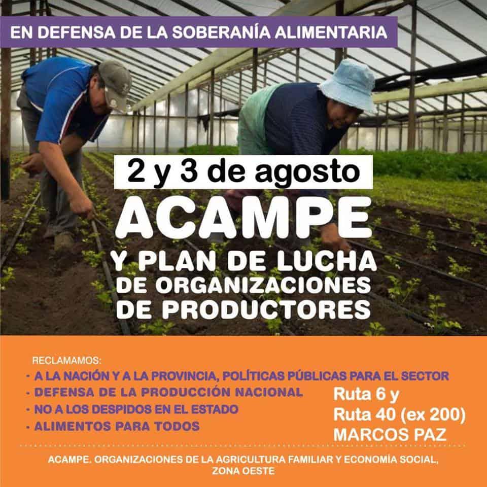 Acampe de organizaciones de Agricultura Familiar de zona oeste en reclamo de políticas públicas 3