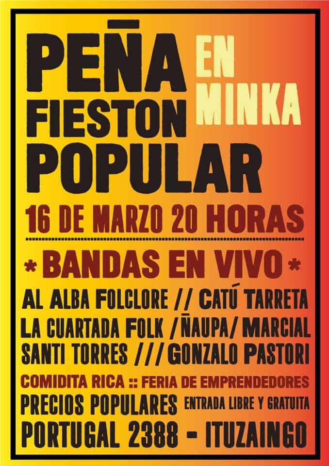 Peña Popular en el Centro Comunitario Minka 3