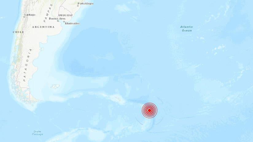Un fuerte sismo de 6,4 en el mar Argentino, al sur de las Islas Malvinas 3