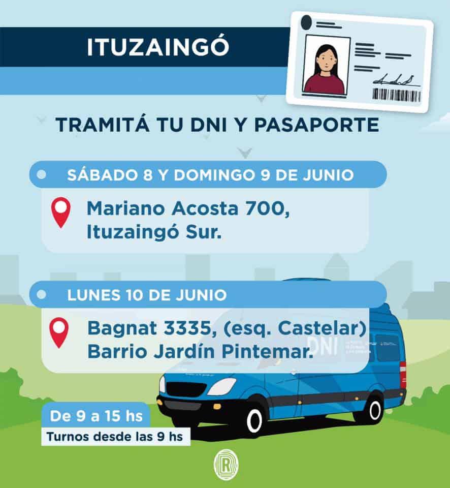 Ituzaingó Sur: este fin de semana se podrá hacer DNI o pasaporte 3
