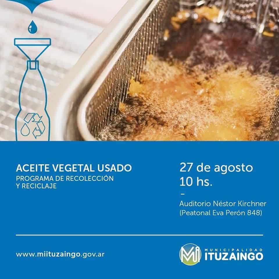 Se relanza en Ituzaingó el programa de Reciclado de aceite vegetal usado para su conversión a Biodiesel 3