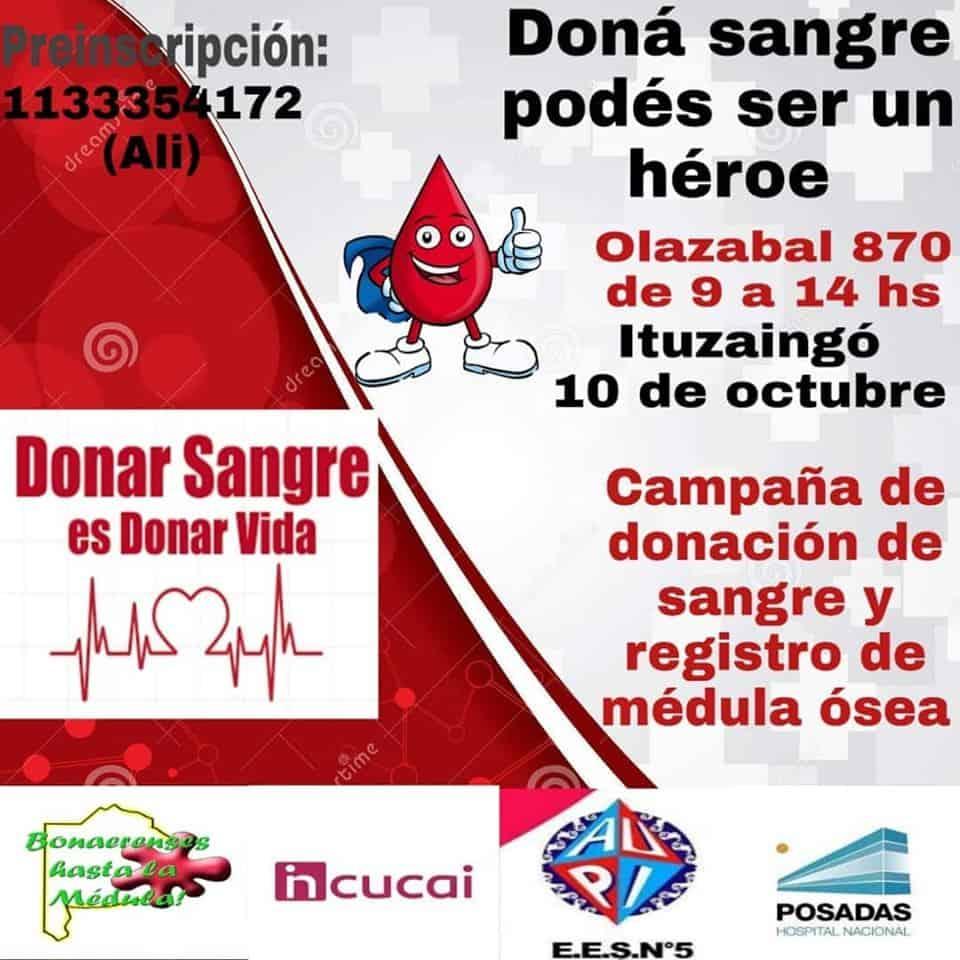 Ituzaingó: Jornada de donación de sangre y registro de médula ósea en el AUPI 3