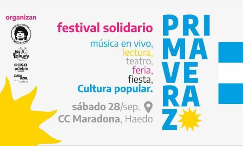 Primaverazo en Haedo: Festival cultural a beneficio de espacios sociales 2