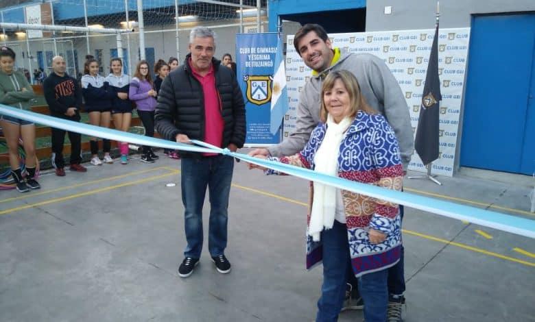 El GEI inauguró en su sede un playón multideportivo 2