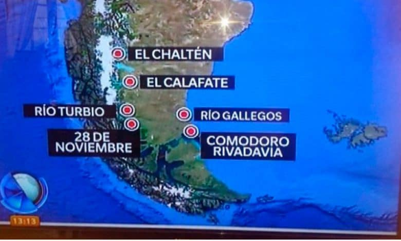 ¿Donde queda Comodoro Rivadavia para los medios nacionales? 1