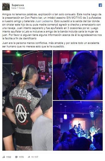 Asesinaron al baterista de la banda punk Superuva en Quilmes 3