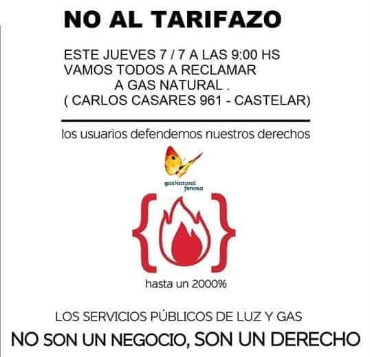 Tarifazo Gas Natural