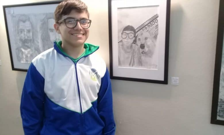 Juan Ignacio, el joven artista de Ituzaingó que recibió una mención en los Juegos Bonaerenses 4