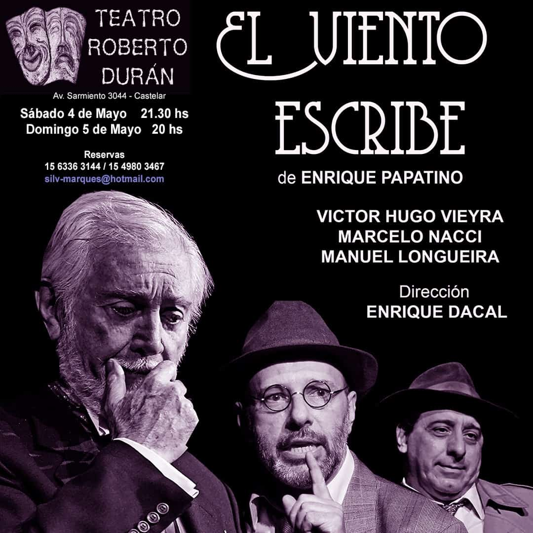 La obra teatral 'El viento escribe' se presenta en Castelar 3