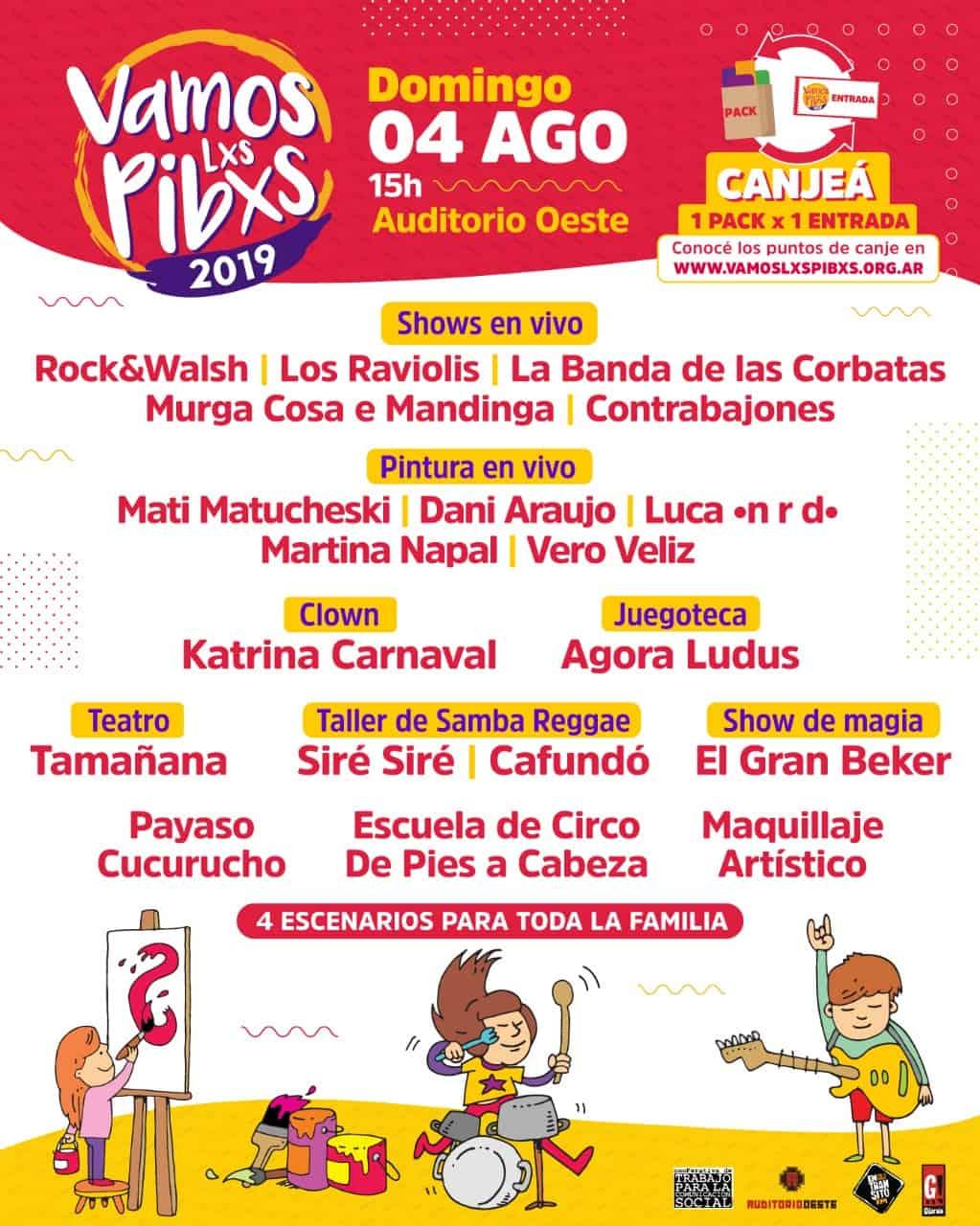 Se acerca el Festival Solidario 'Vamos Lxs Pibxs', a beneficio de comedores del Oeste 3