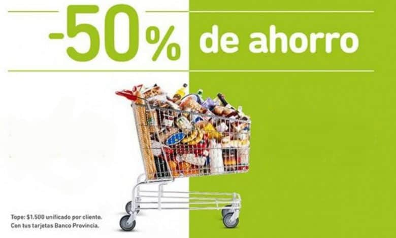 Hoy habrá descuentos del 50% en alimentos con tarjetas del Banco Provincia 1