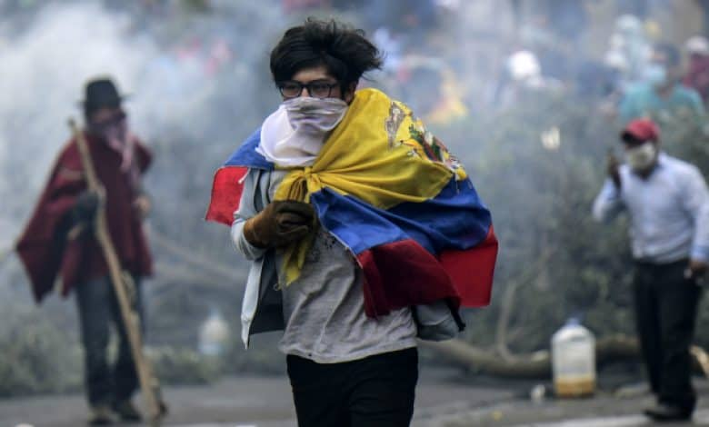 Video: el ejercito ecuatoriano asesina a sangre fría a un manifestante indígena 1