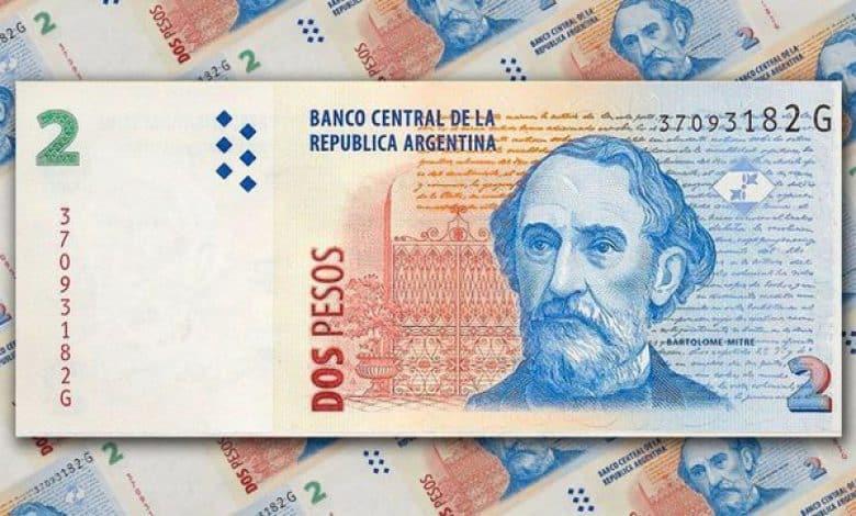 El 1 de mayo los billetes de 2 pesos ya no tendrán valor 1