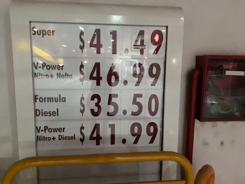 Naftas en Ituzaingó: $39 la súper y $45 la premium 3