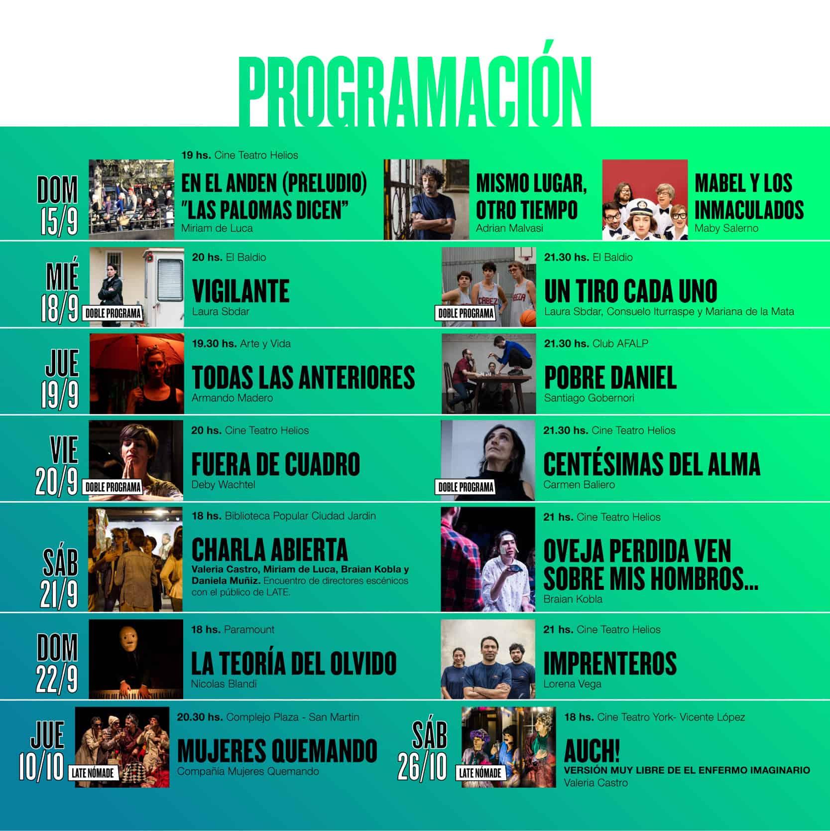 Teatro: llega la 2da Edición del Festival LATE 3