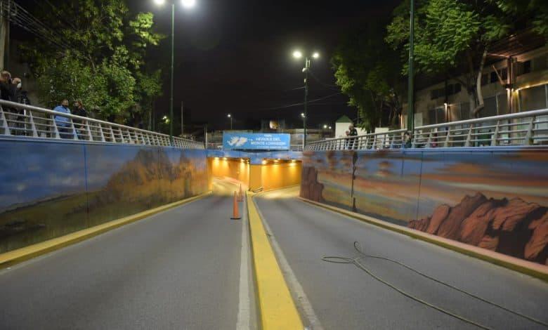 Quedó terminado el mural en el Tunel de Ratti 1