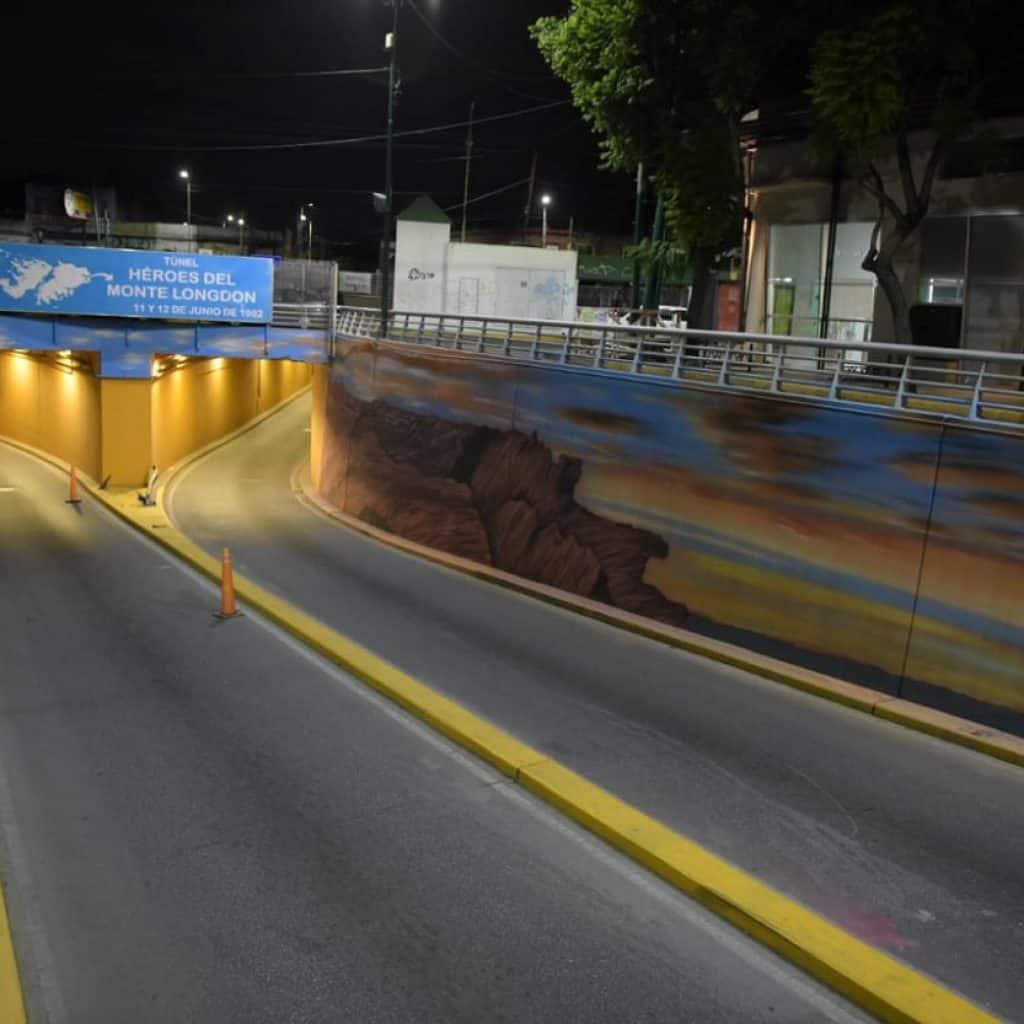 Quedó terminado el mural en el Tunel de Ratti 2