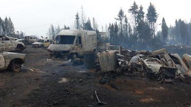 Desde la ruta 40 imágenes desgarradoras del incendio en la localidad del El Hoyo 16