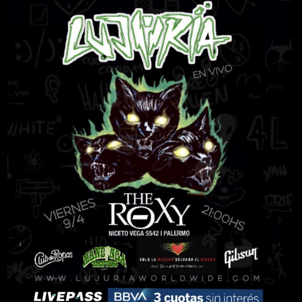 Lujuria presenta su nuevo disco en The Roxy 4