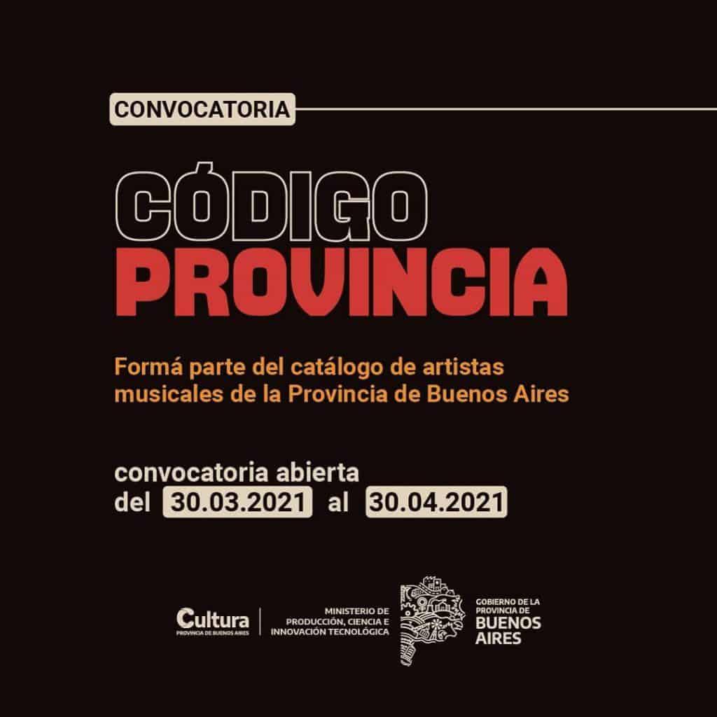 Músicos y músicas bonaerenses podrán compartir sus obras en la plataforma 'Código Provincia' 2