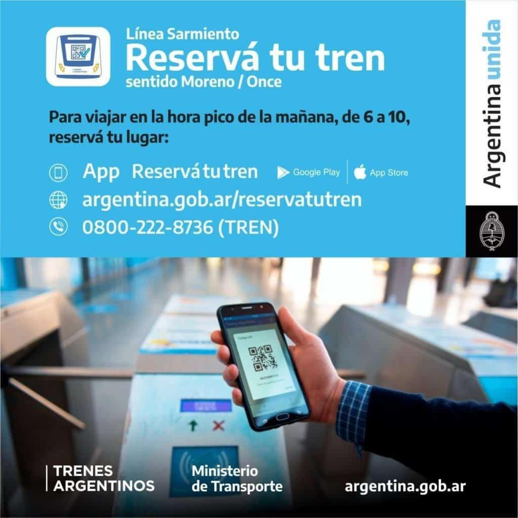Segunda Ola: Para viajar en el Sarmiento en hora pico habrá que reservar turno 2