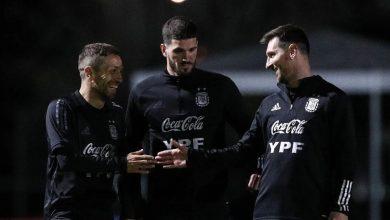 Entrenamiento nocturno de la Selección Argentina 7