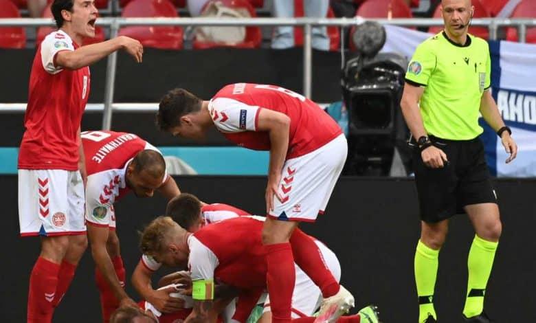 Impactante momento en la Eurocopa: Eriksen se salvó de milagro 1