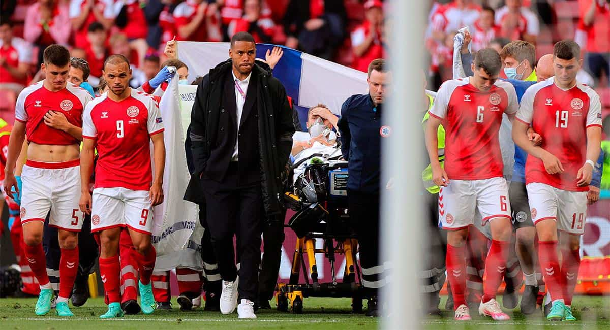 Impactante momento en la Eurocopa: Eriksen se salvó de milagro 2