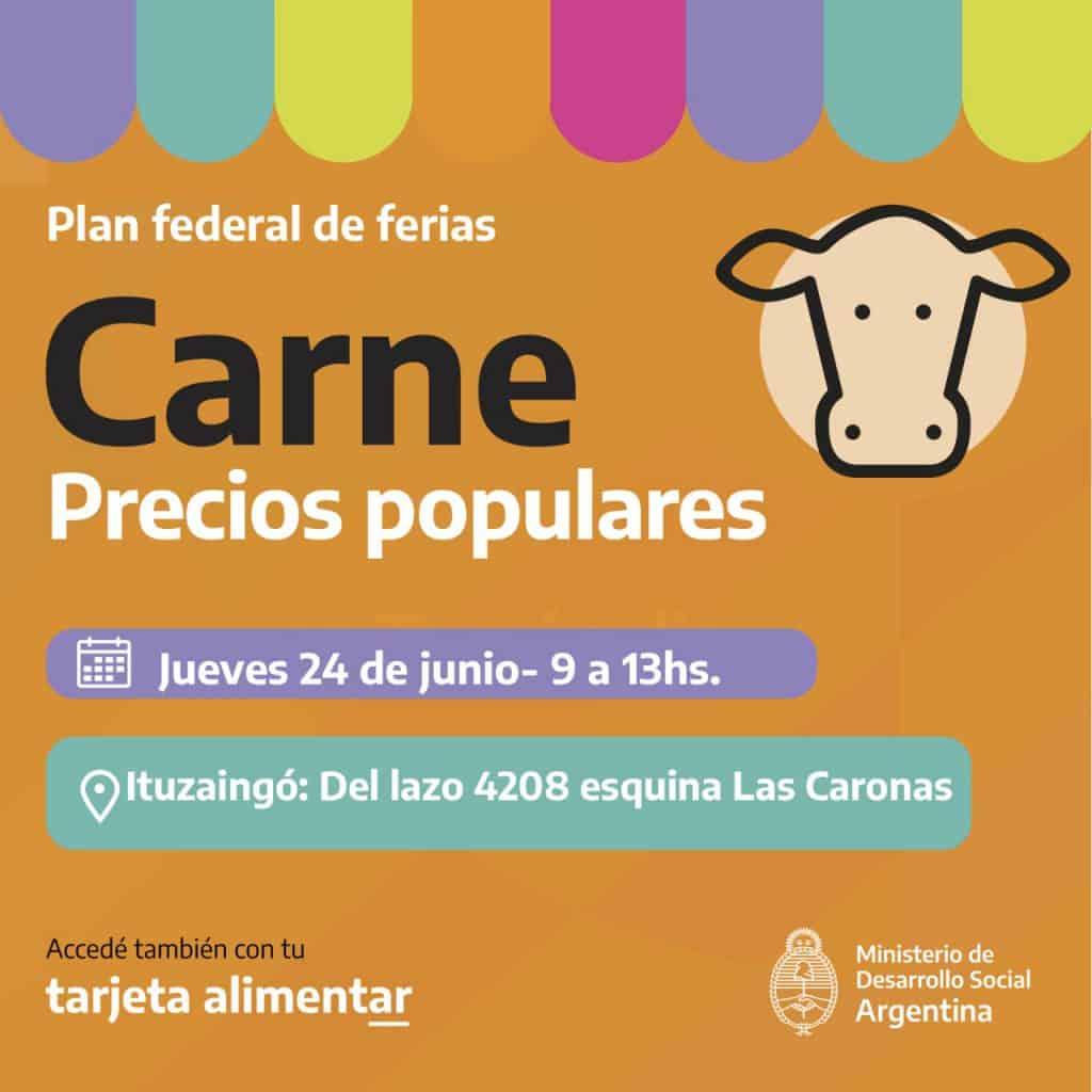 Carne a precios populares mañana en Villa Udaondo con el Plan Federal de Ferias 4