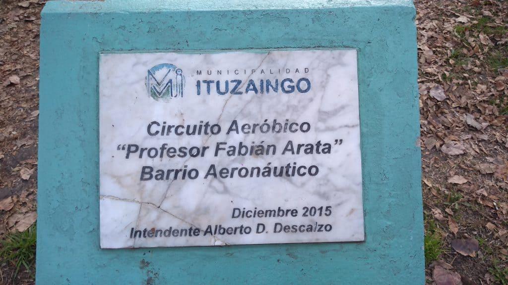 Un grupo de vecin@s le piden al Municipio la recuperación del Circuito Aeróbico del Barrio Aeronáutico 5