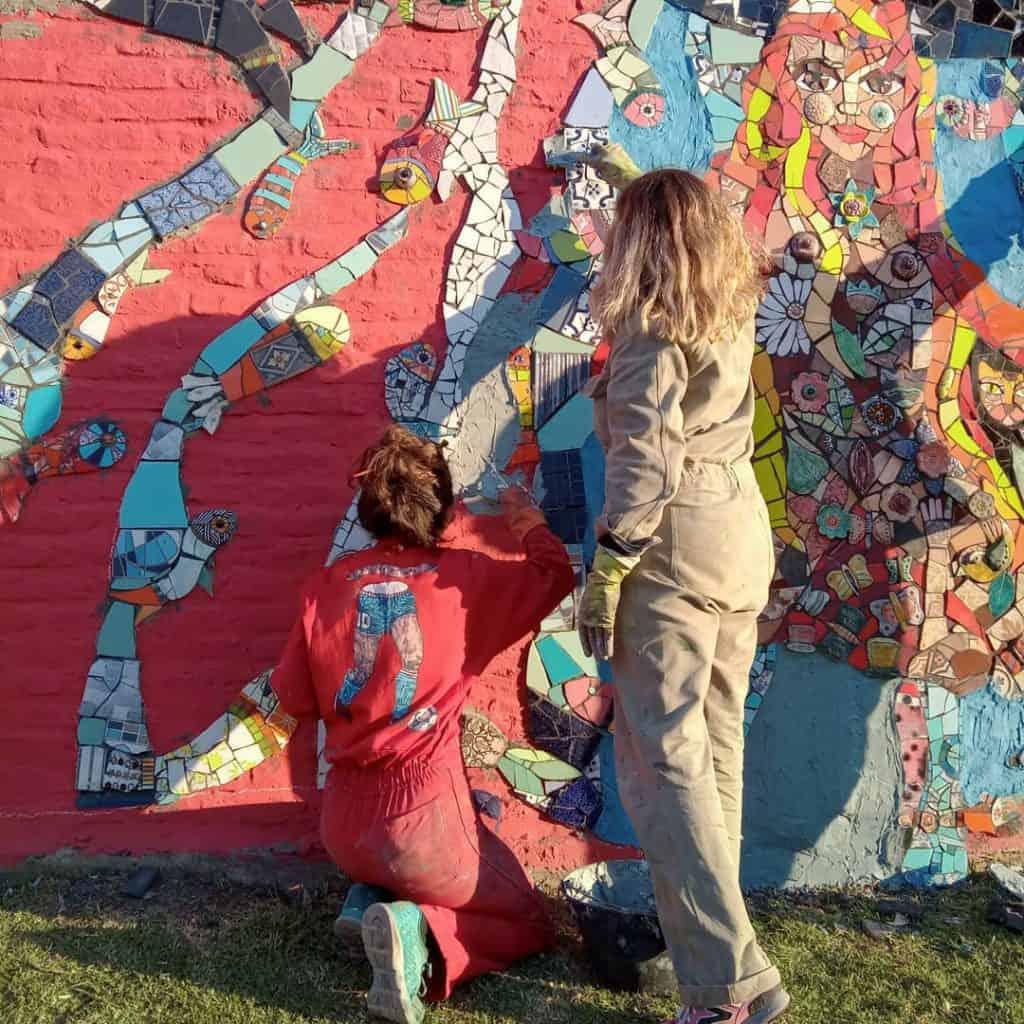 Morón: se estrenó un nuevo mural en una de las paredes de la Mansión Seré 3