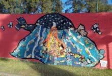 Morón: se estrenó un nuevo mural en una de las paredes de la Mansión Seré 19