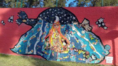 Morón: se estrenó un nuevo mural en una de las paredes de la Mansión Seré 4