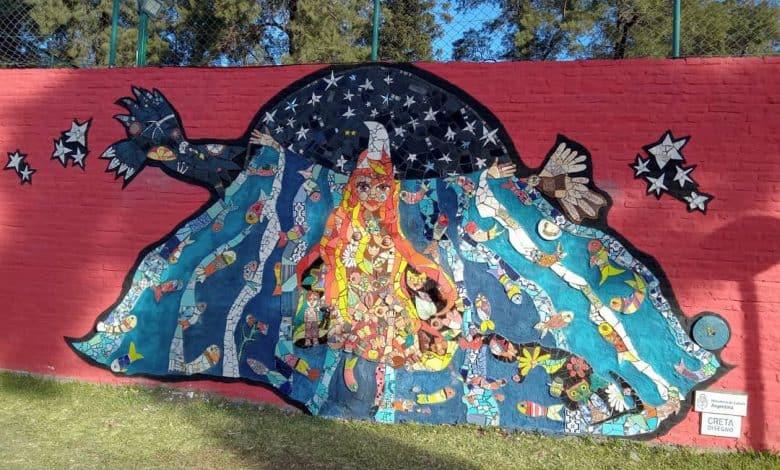 Morón: se estrenó un nuevo mural en una de las paredes de la Mansión Seré 1